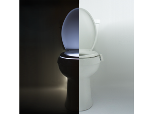 IllumiBowl Toilet Night Light Motion-Activated 9 Color Settings, Fits Any Toilet