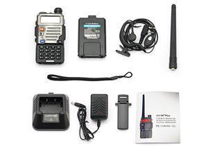 Baofeng Black UV-5R+ Plus Dual-Band 136-174/400-480 MHz FM Ham Two-way Radio