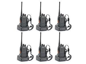 BAOFENG BF-888S UHF FM Transceiver High Illumination Flashlight Walkie Talkie Two-Way Radio (pack of 6)
