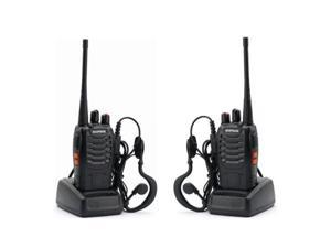 Twin Pack Baofeng BF-888S UHF 400-470 MHz 5W CTCSS Two-way Ham Radio 16CH Walkie Talkie
