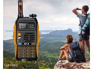 Baofeng GT-3 Mark-II Dual-Band Two-Way Radio Transceiver (Black-Orange)