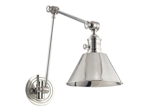 Hudson Valley Garden City 1 Light Wall Sconce, Polished Nickel 8323-PN