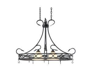 Kenroy Home Countryside 2 Light Pot Rack Royal Bronze Finish - 91562RBRZ
