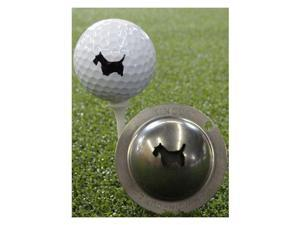 Tin Cup Golf Ball Custom Marker Alignment Tool - Scotty The Terrier