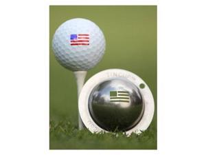 Tin Cup Golf Ball Custom Marker Alignment Tool - Stars and Stripes