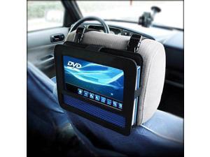 RevoLity 7-7.5 Inch Car DVD Headrest Mount Holder Strap Case for Swivel & Flip Style Portable DVD Player Color Black
