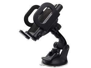 RevoLity Universal Adjustable Car Bracket - Vehicle Mount For Navigation, GPS and Smartphones - Cell Phone Holder With Suction Cup Design Of Base Color Black