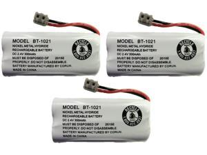 NEW! Genuine Uniden BT-1021 BBTG0798001 Cordless Handset Rechargeable Battery (3-Pack)