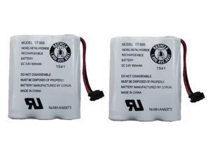 Uniden BT-905 Rechargeable Cordless Handset Phone Battery 3.6V 600mAh NiMH (2-Pack)