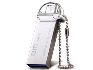DM PD009 OTG USB 3.0 100% 64GB USB Flash Drives OTG Smartphone Pen Drive Micro USB Metal waterproof USB Stick