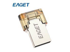 EAGET V8 8GB Metal OTG USB Flash Drive USB Stick 8 GB USB2.0 OTG Pen Drive Pendrives Encryption for Android Smartphone Tablet