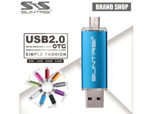 Suntrsi USB Flash Drive OTG Smart Phone Pendrive 64GB 8GB 16GB 32GB USB Stick Tablet PC Pen Drive Micro USB External Storage