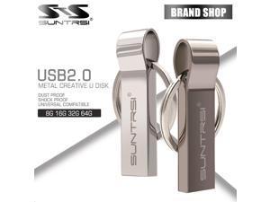 Suntrsi Waterproof Metal USB Flash Drive 16gb pen drive usb flash drive key ring usb stick pen drive customized Logo ship