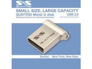 Suntrsi Usb Flash Drive 64GB Mini Pendrive 64GB 16GB 8GB Pen drive Usb Stick Custom USB Flash Real Capacity Flash Drive