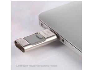 Flash drive USB 3 in1 Mini Metal Usb Pen Drive Otg Usb Flash Drive For iPhone 5/5s/5c/6/6 Plus/ipad 8gb 16gb 32gb 64gb