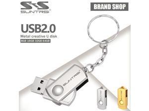 Suntrsi Metal USB Flash Drive 64GB Mini USB Stick High Speed Pen Drive Key Chain Pendrive USB Flash Real Capacity Flash Drive