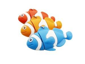 Clownfish Usb flash drive Fish Pen Drive USB 2.0 USB Flash Drive Pen Drive 32G 16GB 8GB 4GB Thumbdrive Memory Flash Disk Cartoon