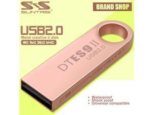 Suntrsi Pendrive 64GB Waterproof Mini Metal USB Flash Drive Customized Logo Pen Drive USB Stick Flash Drive Pendrive 32GB