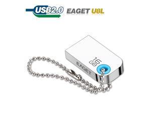 Original Eatet U8L USB Flash Drive Key Chain Pendrive USB 2.0 Mini Metal Waterproof Pen Drive 32GB USB Stick 16GB USB Flash