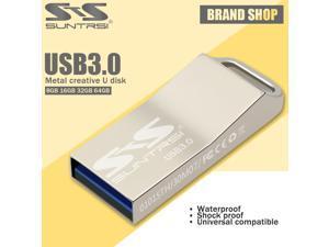Suntrsi Pen drive usb 3.0 Flash Drive 64gb usb stick waterproof metal 32gb 16g 8g Pendrive customized print logo usb flash drive