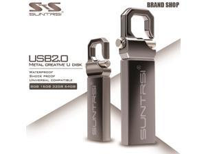 Suntrsi USB Flash Dirve High Speed Metal Pen Drive USB Flash Waterproof USB Stick Pendrive Real Capacity Flash Drive Customized