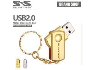 Suntrsi USB Flash Drive MIni Metal Pendrive Key Chain USB Stic Pen Drive High Speed Flash Drive Customized Logo Print USB Flash