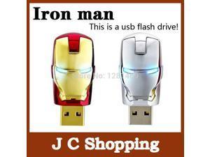 Garunk pen drive Real capacity Avengers Iron Man Metal usb flash drive 4G 8G 16G 32G USB 2.0 Flash Memory Stick Drive pen drive-inUSB Flash Drives