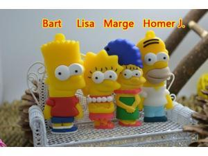 Simpson Cute Cartoon Pen Drive Simpsons 2.0 Usb Flash Drive 64GB Pen Drive 64 GB Pendrive 32GB 16GB Usb Stick Disk Gift