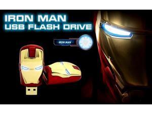 Iron man 8G 16G 32G 64gb usb Key usb Ironman flash drive pen drive USB 2.0 flash metal memory stick
