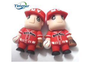 Mini baseball romantic couples real 8 gb capacity USB flash drive 16 gb and 4gb memory drive stick S255 pen/experience