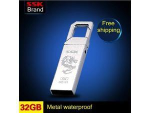 SSK SFD195 USB Flash Drive 100% 32GB Pen Drive Metal Waterproof Memory Usb Stick -inUSB Flash Drives
