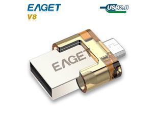 usb flash drive OTG Eaget v8 usb 2.0 stick 8GB 16GB 32GB pass hest Smart Phone Tablet PC pen drive External Storage pendrive
