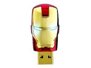 Iron man Model USB Flash Drive 32GB 16GB 8GB Car Key Memory Stick Flash Pen Drive U disk thumbdrives eye light disk