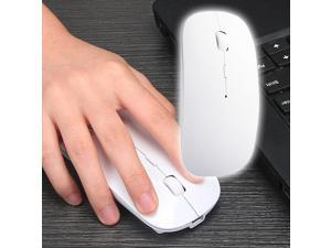 Rechargeable Bluetooth Mouse Ultra Thin Wireless Mouse White est Vesion Power Revolution