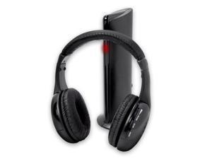 ! HL 5 in 1 Hi Fi Wireless Headphones Earphone Headset for PC Laptop TV FM Radio MP3 Apr18