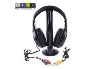 5 in 1 3.5mm HiFi Wireless Earphones Headphone Headset Wireless Monitor FM radio for MP4 PC TV audio game
