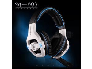 Sades SA 903 7.1 Surround Sound USB Headphones Pro Gaming Headset For PC Gamer Headphone With Microphone Remote Control Earphone
