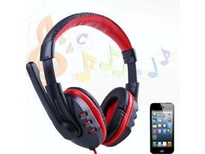 Skype Gaming Game Stereo Headphones Headset Earphone w/ Mic For PC Computer