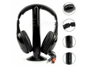 for 5 in 1 Hi Fi Wireless Headset Headphone Earphone for TV DVD MP3 PC