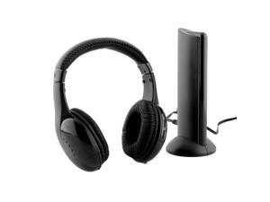 Black 5 in 1 Wireless Cordless Headphone Headset Earphone With Mic For PC TV FM Wireless Gaming Headphones