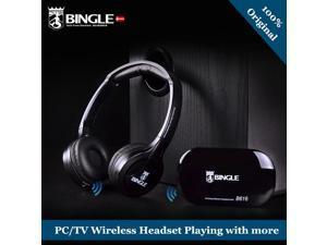 Bingle B616 Wireless headphone Computer tv earphone Multifunction Wireless Headset Headphone with FM Radio for PC TV Audio