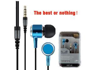 Metal Mp3 Ear Headphone In ear Earphone For Phone 3.5mm Line Type Wired Headset With Microphone Ear Buds NR01