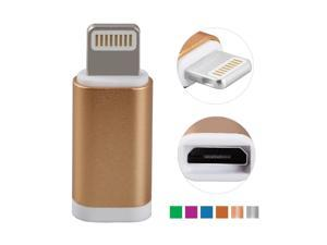 Metal Micro USB to 8Pin Charge Sync Adapter For Apple iPhone 5 5C 5S 6 6+ 6S 6S+ iPad Air Mini 2 With Micro USB Cables HADT-1138