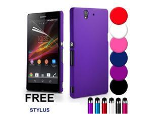 For Sony Xperia Z L36H Case, Luxury Rubber Matte Hard Case for Sony Xperia Z L36H C6603 C6002 Mobile Phone Shell Back Cover