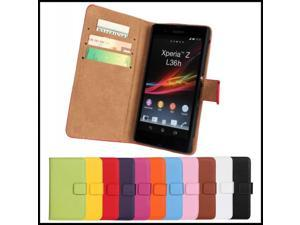 For Sony Xperia Z Case Phone Accessory Leather Wallet Bag Protective Back Shell Stand Mobile Cover For Sony Xperia Z L36h C6603