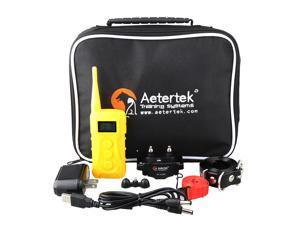 Aetertek AT-216C Waterproof Rechargeable Dog Training Shock Vibration Beep Collar With Remote Electronic Electric E-Collar Trainer