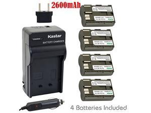 Kastar Battery (4-Pack) and Charger Kit for Canon BP-511, BP-511A and EOS 5D, 10D, 20D, 20Da, 30D, 40D, 50D, 300D, D30, D60, Rebel, PowerShot , Optura, ZR40, ZR45MC, ZR50MC, ZR60, ZR90 Cameras etc.