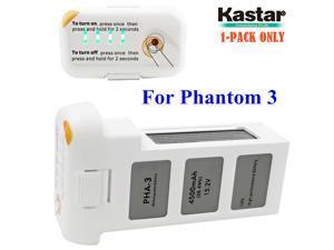 Kastar Intelligent Flight Battery Phantom 3 (1-Pack) High Capacity 4,500 mAh 15.2 V (4 cells in serial, 4S)- 24 Minute Flying Time - For the Phantom 3 Professional and Phantom 3 Advance