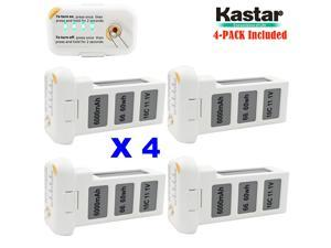 Kastar High Capacity Phantom 2 Battery 4-Pack 11.1V 6000mah 66.6wh 10C Extended Spare Replacement Battery for DJI Phantom2 Quadcopter Drone including Vision, and Vision+