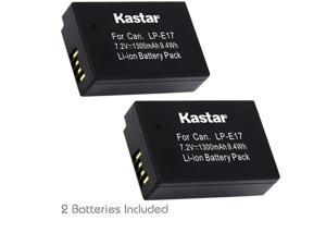 Kastar Battery (2-Pack) for Canon LP-E17 Battery LC-E17, LC-E17C Charger and Canon EOS M3, EOS Rebel T6i, EOS Rebel T6s, EOS 750D, EOS 760D, EOS 8000D, Kiss X8i cameras